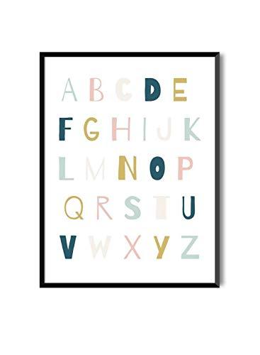 MILUKA Láminas Infantiles para enmarcar colección Mensajes Infantiles   ABC Anais  ...