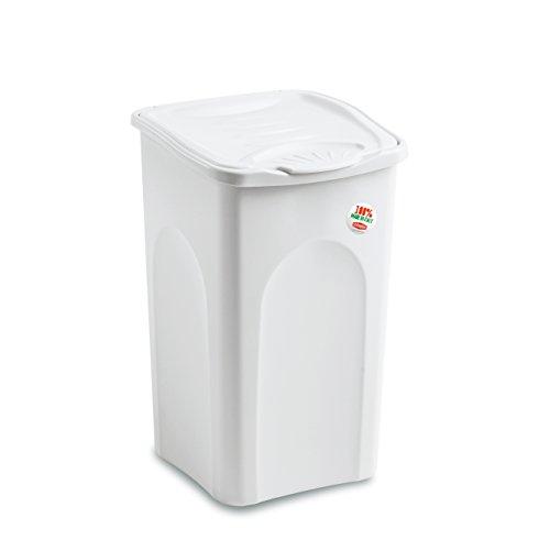 Stefanplast portabiancheria chiuso lt.50 bianco, cm 37x37x56h