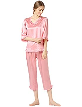 CHUNHUA Ladies High-end seta 100% seta manica lunga v collo qualità pigiameria casa Abbigliamento invernale in...