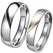 Titanium Couple Wedding Band Ring Set (MM111)