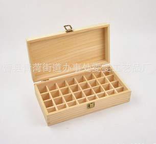 Caja de Aceites Esenciales Madera Organizador - 32 Botellas de Perfume Almacenamiento de Aceite Esencial