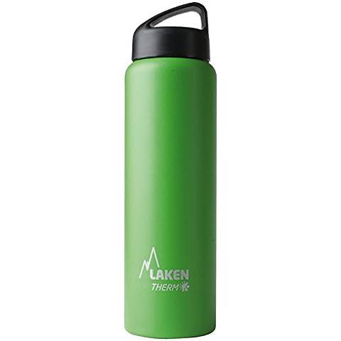 Botella térmica Classic de Laken en acero inoxidable con aislamiento al vacío y boca ancha 1L Verde