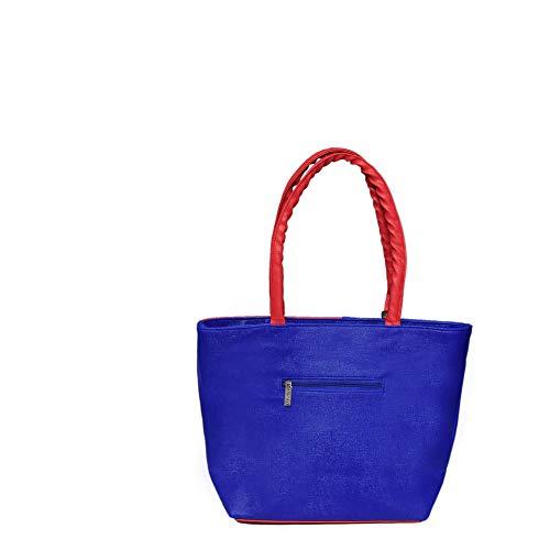Best college bags for girl in flipkart in India 2020 JSPM® Girl's & Women's Handbag Pink&Blue (SP-1001) Image 3