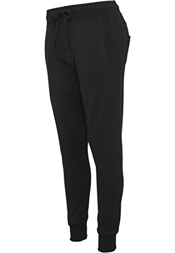 Ladies Light Pile Sarouel Pantaloni Black