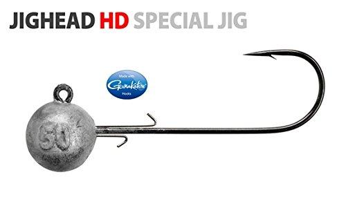 Spro Jighead HD - Meereshaken Jigköpfe für Gummifische, Jighaken für Gummiköder, Bleikopf zum Meeresangeln, Bleiköpfe für Jigs, Größe/Gewicht / Packungsinhalt:Gr. 4/0 / 50g / 3 Stück -