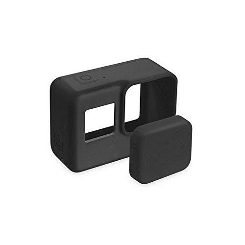 Preisvergleich Produktbild LIUYUNE, Professionelles Zubehör Action Camera Cover schützt Silikonhülle Skin + Objektivabdeckung für GoPro Hero 5 Black Hero 6 Kamera(Color:SCHWARZ)