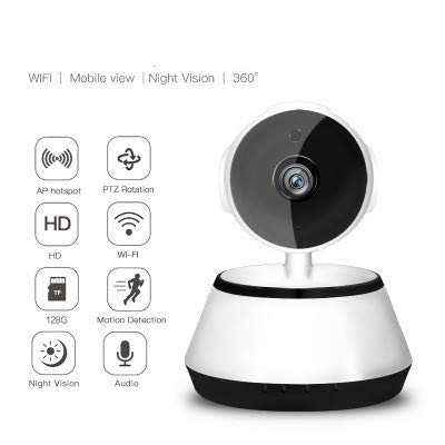 TianranRT Wireless Hd 720P Ip Camera Panning Tilt Network Security Cctv Night Vision Wifi Cam (A)