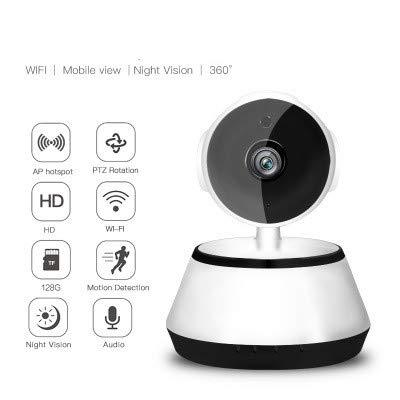 TianranRT Wireless HD 720p IP Kamera Schwenk Neigung Netzwerk Sicherheit CCTV Nacht Vision WiFi Cam (A)