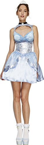 Smiffy's 43478S - Fever Magische Prinzessin Kostüm mit Kleid angebaute Underskirt und Mini Tiara (Prinzessin Kostüme Erwachsene)