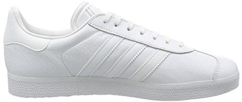 adidas Gazelle, Baskets Basses Mixte Adulte Blanc (Footwear White/Footwear White/Gold Metallic)
