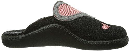 ROMIKA MOKASSO 10 6101054700, Pantofole Donna Grigio (Grau (anthrazit 700))