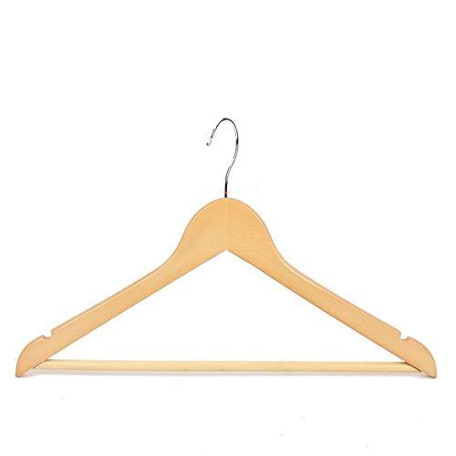 Massivholz Aufhänger Studentenwohnheim Kleider Hängen Rutschfest Samt Aufhänger Chromhaken (Farbe : Beige, Size : 5 pscks) -