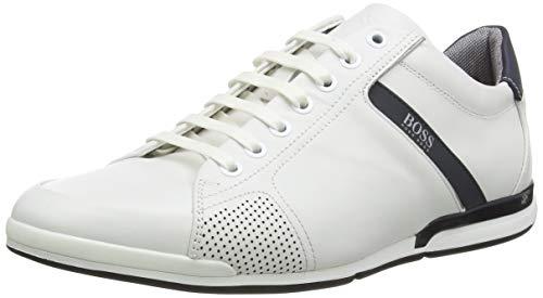 BOSS Herren Saturn_Lowp_Lux4 Sneaker, Weiß (White 100), 42 EU