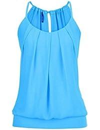 SEWORLD 2018 Damen Mode Sommer Damen Übergröße Chiffon Weste Shirt Ärmellose Bluse Casual Tank Tops T-Shirt