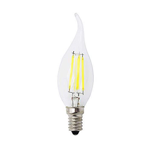 GGSSYY-JNDP 2ocs C35L 4W 8W 12W E14 LED Lampadina a filamento di Vetro AC 220V Retro Candela per luci lampadario Illuminazione 230V 240 V