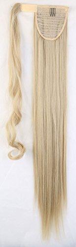 S-noilite ® parrucchino s hair piece treccia coda di cavallo liscia extension per capelli clip in hair extensions capelli 66cm grigio biondo mix candeggina blond