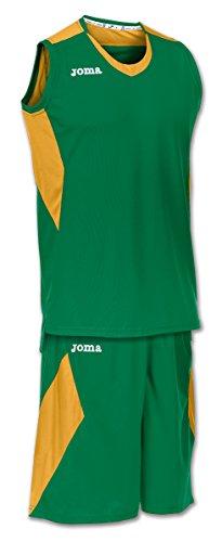Joma Space - Basketball-Shirt und -Hose für Herren, Farbe weiß / marineblau.  Größe M vert/doré