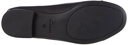 Clarks Atomic Haze, Baskets Basses femme Noir (Black Combi Lea)