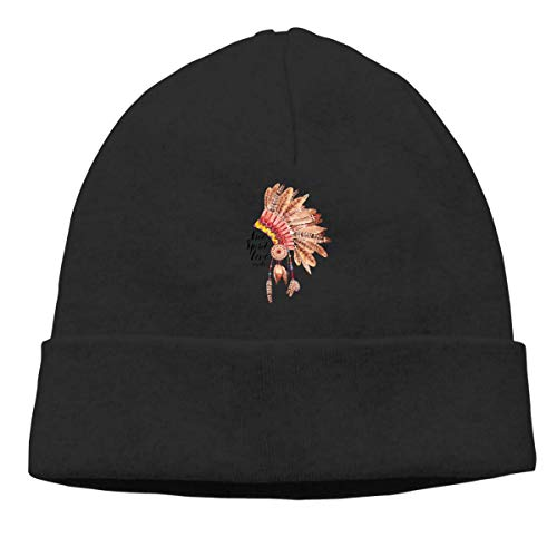 Album Warm Stretchy Solid Daily Skull Cap Knit Wool Beanie Hat Outdoor Winter Fashion Warm Beanie Hat ()