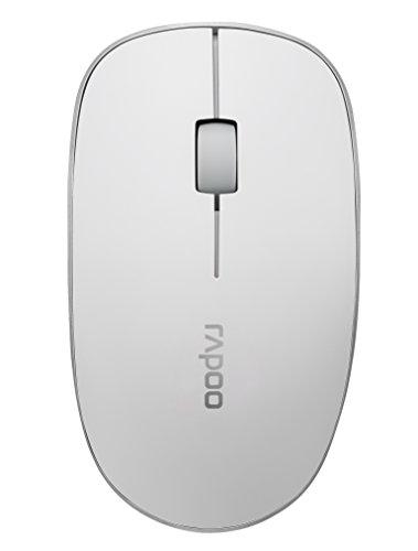 Rapoo 3510 kabellose Maus (2,4 GHz Wireless, optisch, 1000 DPI, 3 Tasten inkl. 2D Mausrad, Links-/Rechtshänder, Nano-USB für PC, Laptop, iMac, Macbook, Microsoft) weiß