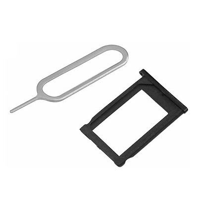 BisLinks� SIM CARD HOLDER TRAY BLACK + EJECT PIN SLOT TOOL FOR iPHONE 3G 3GS
