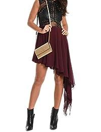 e2a6e71b8092 MANGANO Vestito Donna PMNG001330398 Poliestere Bordeaux Nero