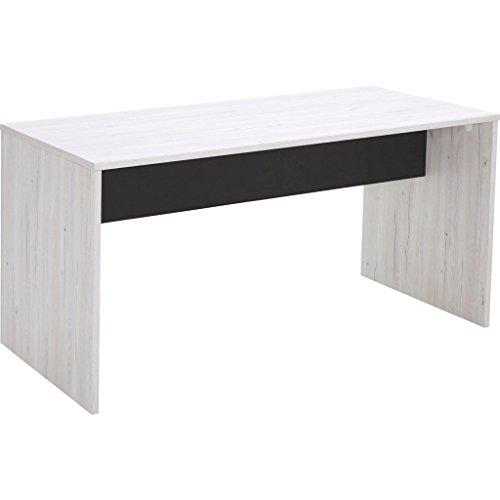 CARRYHOME Schreibtisch, Grau, 140x72x70 cm, Holzwerkstoff