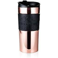 BODUM - Mug - Gobelet de voyage isotherme en inox, double paroi, couvercle à clapet - 0.35 l - Cuivre