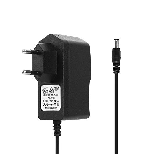 Chidjon 8,4 V 1A 18650 Lithium-Batterie-Ladegerät DC5,5 mm Netzteil-Ladegerät (EU) 8.4 V 1