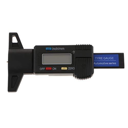 FLAMEER LCD 0-25mm Digitales Tiefenmessgerät Reifenprofil Elektronischer Mikrometer Messen