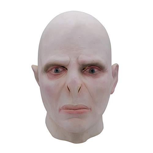 WYJSS Halloween Maske Kopfbedeckung Latex Maske Neuheit Horror Böse Angst Scary Maske Film TV Prom Performance Requisiten Beige,Beige-OneSize (Alte Halloween-kostüme Tv-shows)