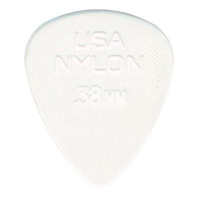 Jim Dunlop Nylon Gitarrenplektren (0,38mm) 12 Stück