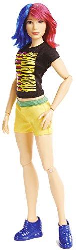 Mattel FTD83 WWE Girls Superstar Asuka 30 cm Puppe, Mädchen Puppen Spielzeug ab 6 Jahren