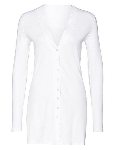 Marc Cain Essentials Damen Strickjacke +E3110J50 Weiß (White 100)