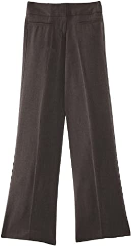 Blue Max Banner Senior Girl's Grenwich with Fly School Trousers, Mid Grey, W34/L29