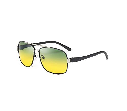 GOODLQ Tag und Nacht Dual-Use HD Night Vision Mirror polarisierte Sonnenbrille Male Night Driving Special Glasses Anti-High Beam,Black