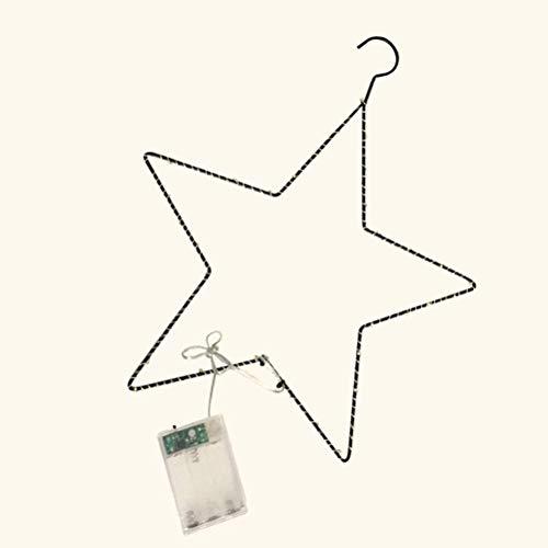 1pc Star Light Battery Powered Decorative Hanging Creative Light Home Coat Hanger Lamp Light Decoration -