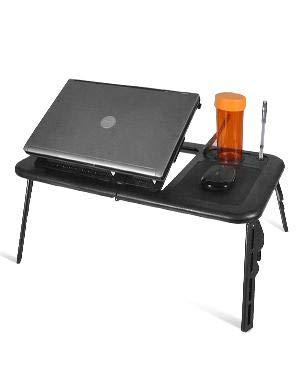 Laptop-Schreibtisch, 0-360 Grad Einstellbare tragbare faltbares Notebooktisch, mit USB-Ports,...