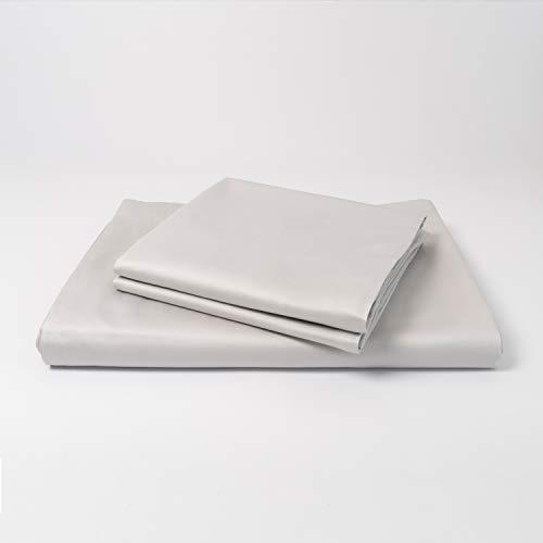 cloudlinen Luxus Bettwäsche Set aus 100% ägyptischer Baumwolle - 200x200 (Bettbezug) + 2 * 80x80 (Kissen) - grau einfarbig/unifarben - kuscheliger, Warmer, weicher Satin für besten Schlaf (Luxus-bettwäsche)