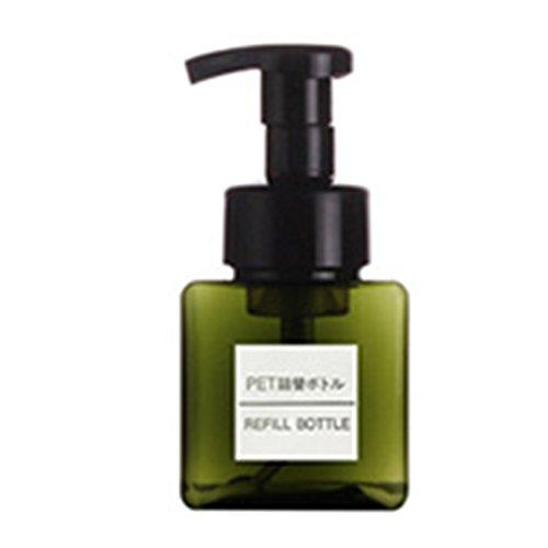 MEIWO 250ml carré mousse bouteille embouteillage parfait pour la lessive gel douche liquide gel douche shampooing détergent Nettoyant - Vert