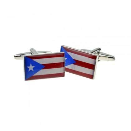 Ashton and Finch Puerto Rico Flag Manschettenknöpfe Mit Geschenkbox