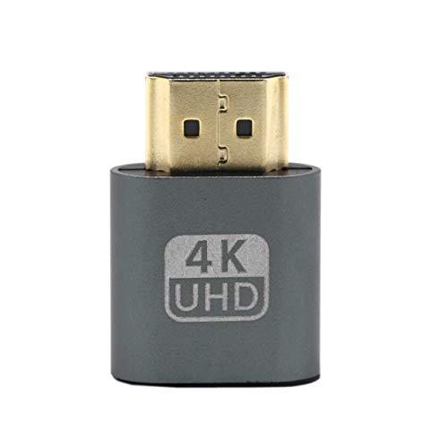 Preisvergleich Produktbild Stecker,  VGA HDMI Dummy-Stecker Virtueller Display-Emulator-Adapter DDC Edid-Unterstützung 1920x1080P für Videokarte BTC Mining Miner