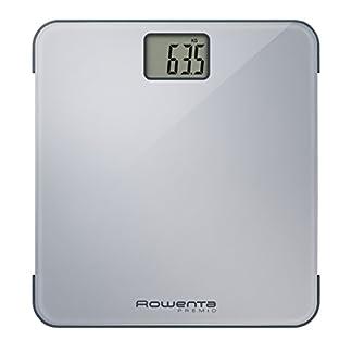 Rowenta Body up BR2520V0 Báscula de baño con medidor de grasa corporal e IMC, hasta 8 perfiles de usuario, con una gran pantalla LCD, plataforma de vidrio, hasta 150 kg de capacidad, Azul