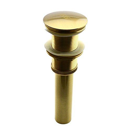 Rmckuva Ablaufgarnituren Ablaufventil Universal Messing Moderne Pop up Ablassventil Keine Entwässerung Entwässerung Für Waschbecken Waschbecken Gold