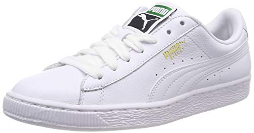 Puma Basket Classic Lfs - Sneakers Basses - Mixte Adulte - Blanc (White/White 17) - 38 EU (5 UK)