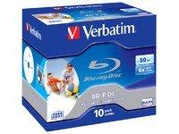 Verbatim BD-R DL 50GB 6x Wide Printable 10pk - Leere Blu-Ray Discs...