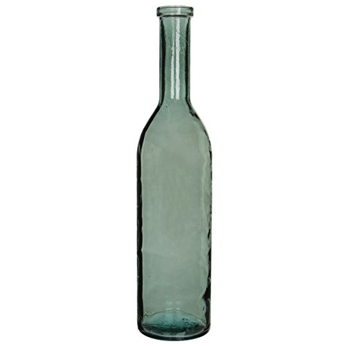 Preisvergleich Produktbild MICA Decorations Rioja Glasflasche / Vase,  Glas,  grau / grün,  H. 100 cm D. 21 cm