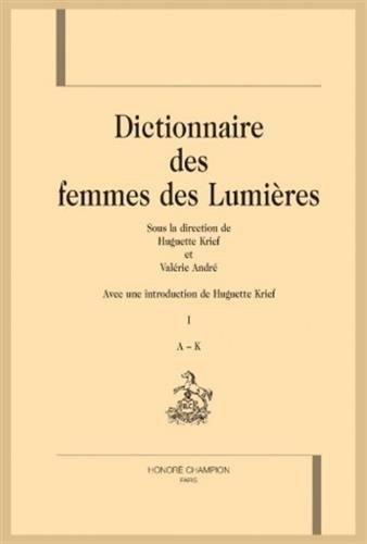 DICTIONNAIRE DES FEMMES DES LUMIÈRES.