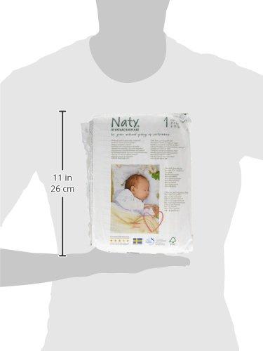 Naty by Nature Babycare Ökowindeln – Größe 1 Newborn, 2-5 kg, 2er Pack (2 x 26 Stück) - 7