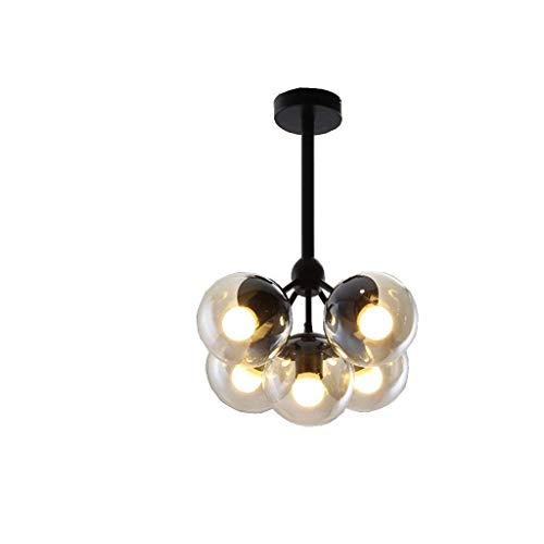 BCX Licht-kreative Persönlichkeit Magic Loop Bean Glas Bügeleisen, Wohnzimmer Esszimmer Studio Deckenleuchten. - Magic Bügeleisen